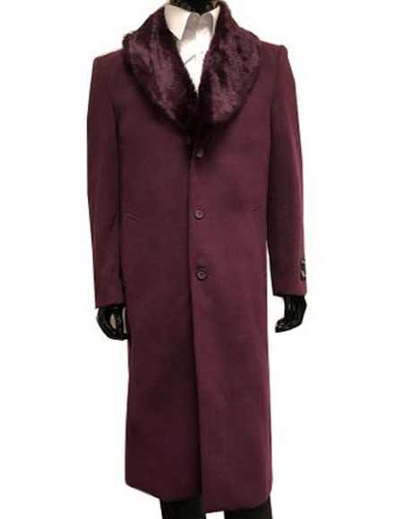 Single Breasted Wool Overcoat