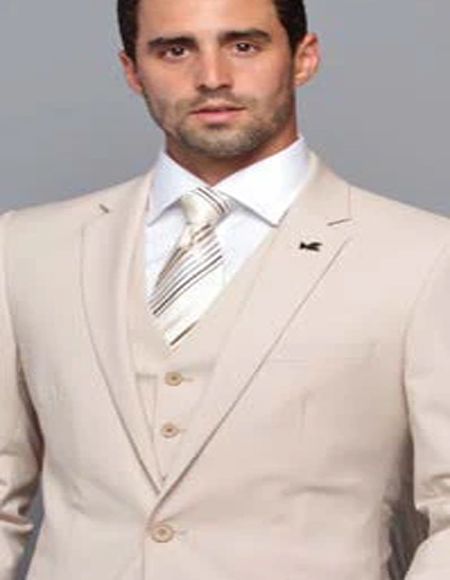 Extra Slim Fit Suit Ultra Extra Slim Fit ~ Tapered Fitted European Cut Suit Tan