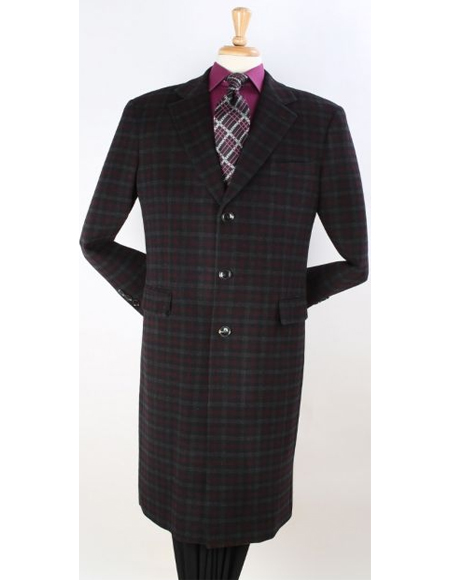 ~ Windowpane Wool Overcoat