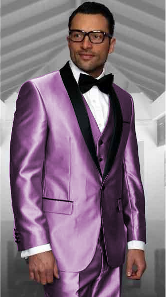 Lilca Tuxedo Shawl Collar Vested Jacket & Vest & Pants 3 Piece Suit Prom or Wedding or Groom Tuxedo