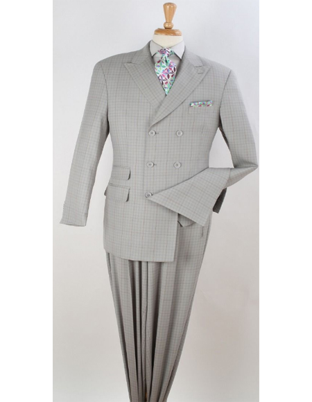 Double Breasted Suit Semi