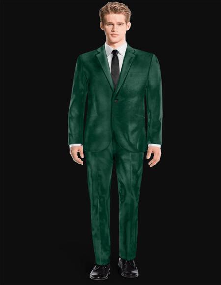 Sage Green Velvet Suit