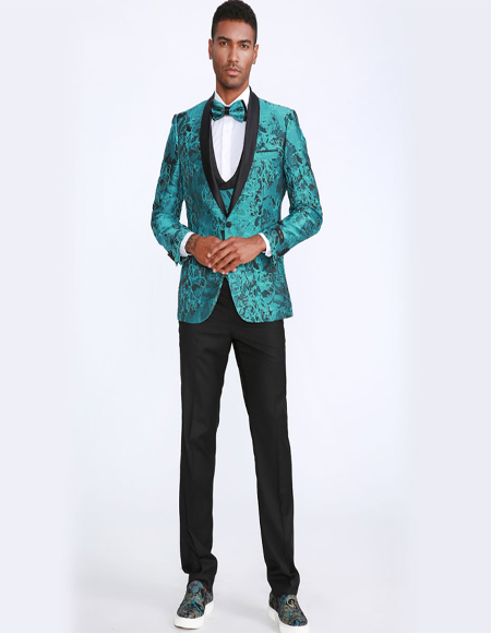 Turquoise Color Tuxedo Jacket Blazer Sportcoat