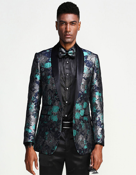 Wedding Blue Turquoise Color Tuxedo Jacket Blazer Sportcoat