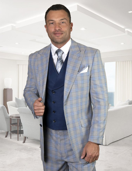 - Checkered Suit Blue