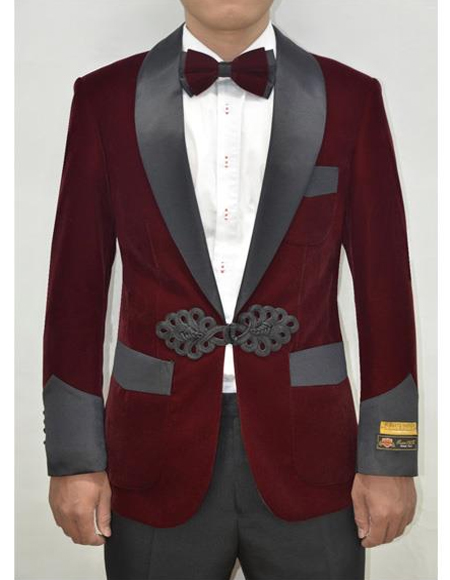 Burgundy ~ Maroon ~ Wine Wedding Blazer ~ Sport Jacket + Matching Bow