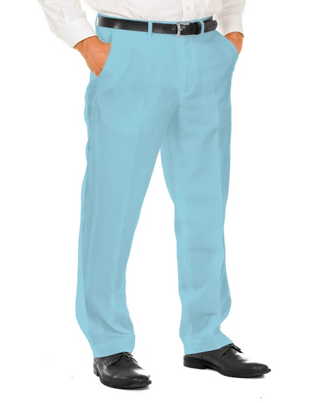 Blue 100% Polyester Slim