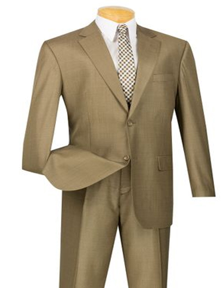 Mens Taupe Big And Tall  Suit