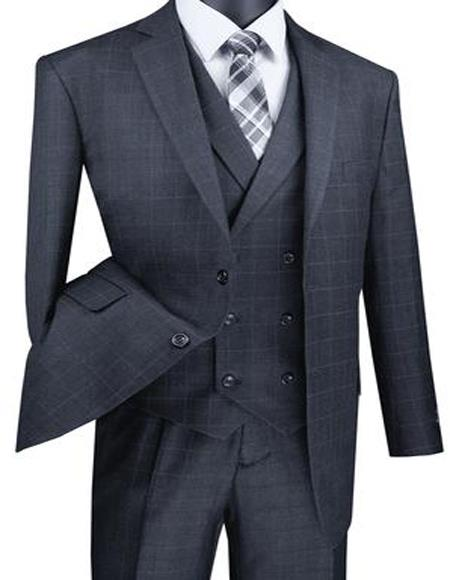 Big And Tall Solid Color Mens Suit