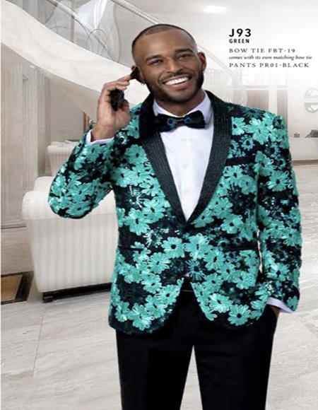 Paisley Floral Tuxedo Jacket
