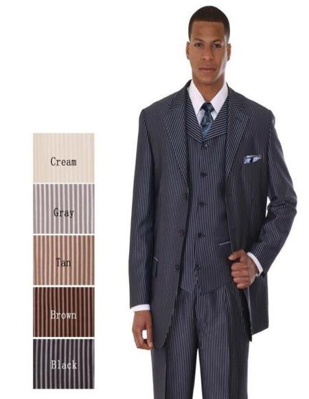 Mens Black ~ Cream ~ Gray ~ Tan ~ Brown Suit