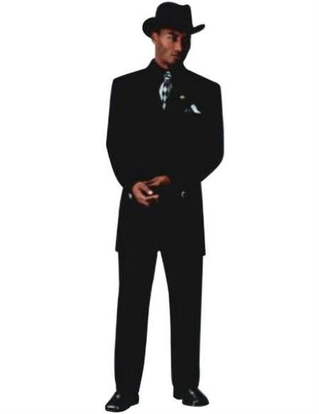 Mens Sharp Black Fashion Zoot Suit for Funeral
