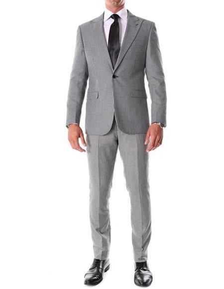 Tweed 3 Piece Suit - Tweed Wedding Suit Gray Houndstooth ~ Herringbone ~ Tweed Suits Slim Fitted