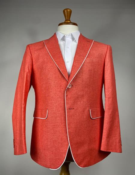 Mens Colorful Summer Linen Suit (Jacket) - Pastel Outfits Male - Pastel Suit