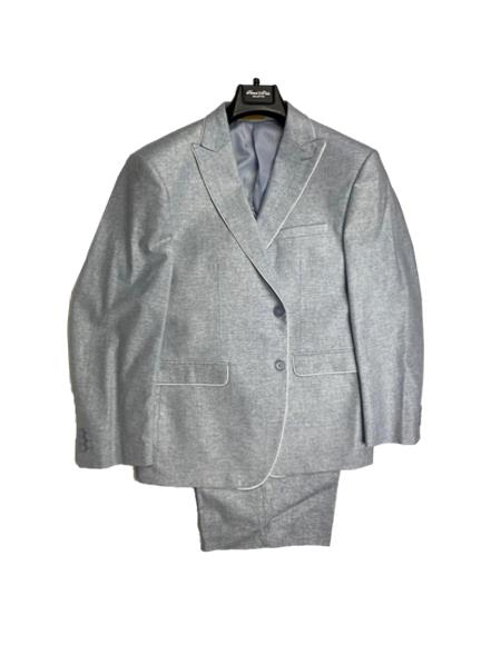 Mens Linen Fabric Summer Business Suits With Shorts Pants Set