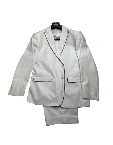 White Color Mens Linen Fabric Summer Business Suits With Shorts Pants Set