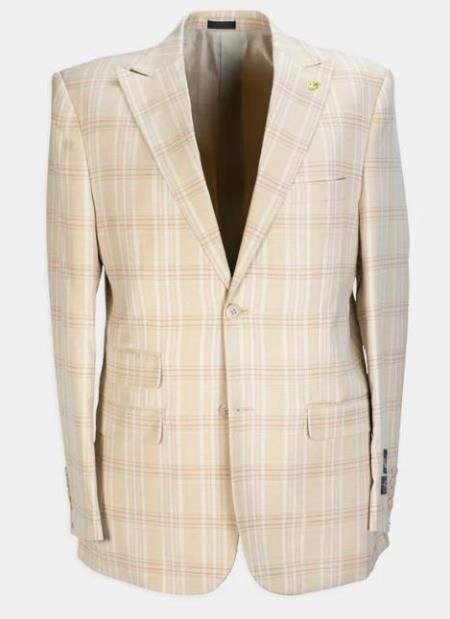 3 Piece Peak Lapel Plaid Affordable Cheap Priced Mens Dress Suit For Sale