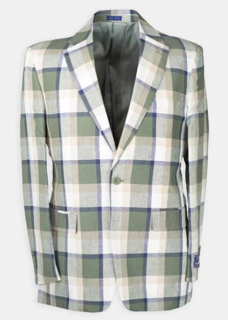 Celery Notch Lapel Cheap Dress Suit For Sale