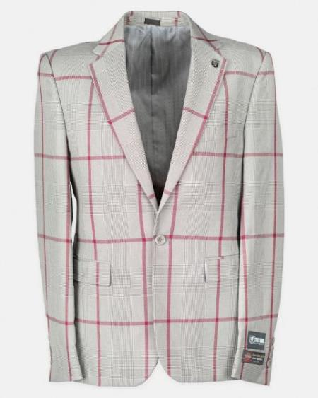 Notch Lapel Windowpane Affordable Cheap Priced Mens Dress Suit For Sale