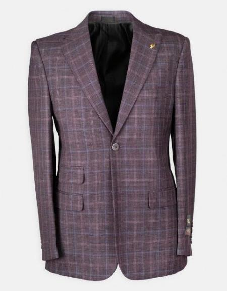 Dark Wine Peak Lapel Dress Suit For Sale