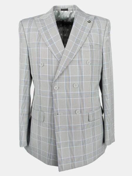 Mens Grey Six Button Cheap Priced Dress Suit For Sale