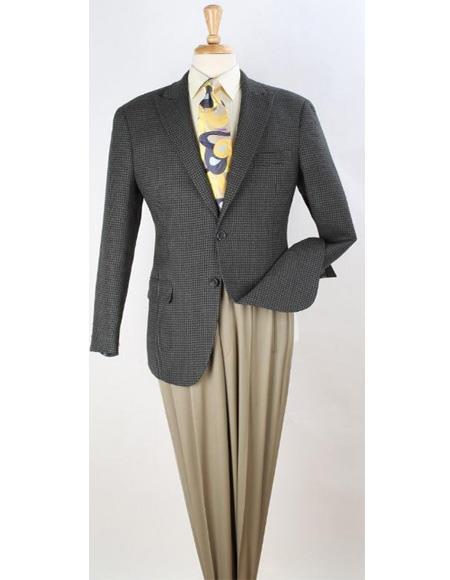 Apollo King Men's 100% Wool Sport Coat - Warm Wool