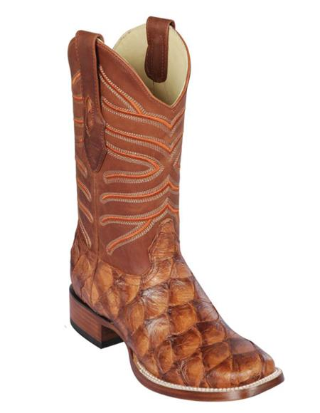 Los Altos Boots Pirarucu Cowboy Boots Chedron