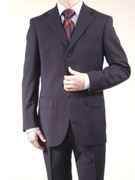 Cheap Plus Size Suits For Men - Big and Tall Suit For Big Guys Dark Navy