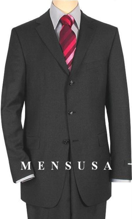 Cheap Plus Size Suits For Men - Big and Tall Suit For Big Guys Charcoal Gray