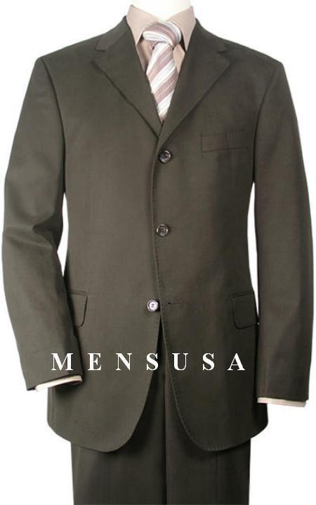 Cheap Plus Size Suits For Men - Big and Tall Suit For Big Guys Olive Green