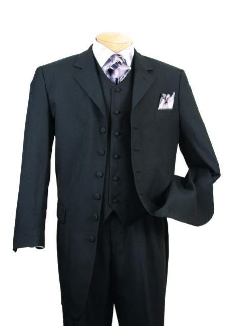 Cheap Plus Size Suits For Men - Big and Tall Suit For Big Guys Solid Black