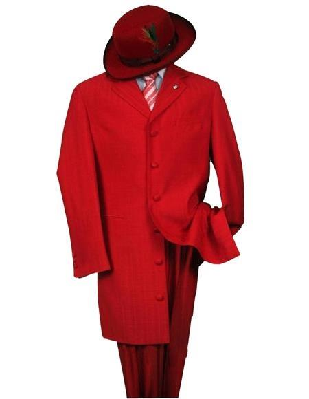 Cheap Plus Size Suits For Men - Big and Tall Suit For Big Guys Red