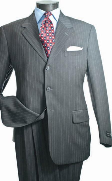 Cheap Plus Size Suits For Men - Big and Tall Suit For Big Guys Gray