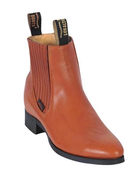 Honey Los Altos Boots Mens Charro Botin Short Ankle Leather Boots