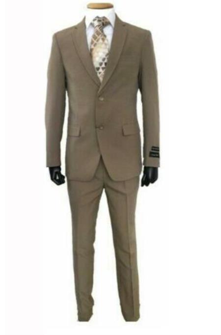 Dark Tan Slim Fit Suit