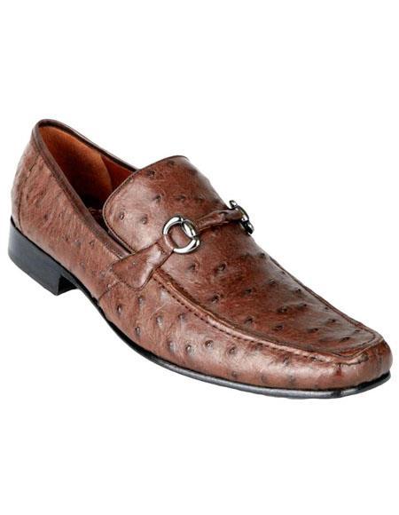 Mens Genuine Ostrich Slip On By Los Altos Boots