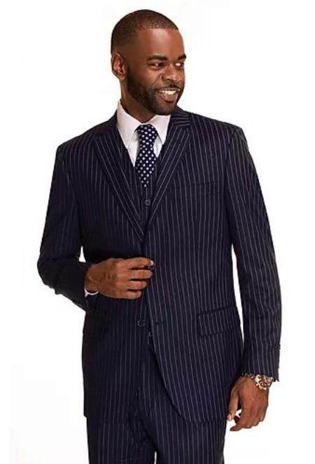 Mens Navy Rust Checkered Patterned Window Pane Suit