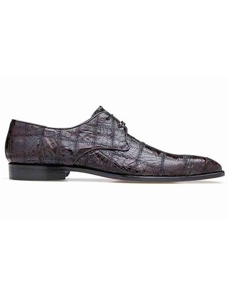 Mens Belvedere Black Cherry Shoes