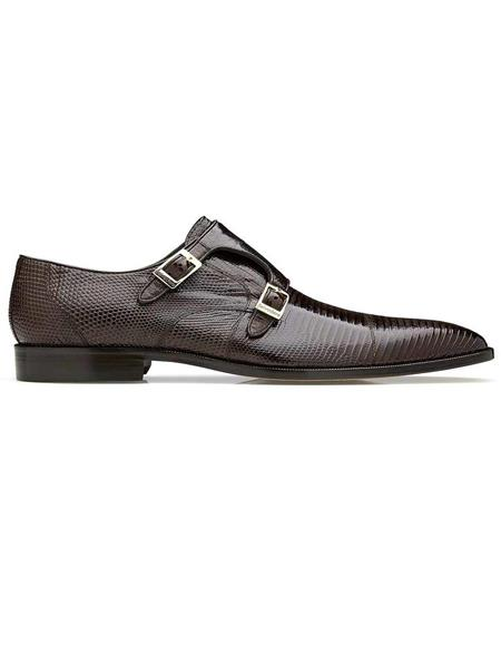 Mens Belvedere Pablo Brown Shoes