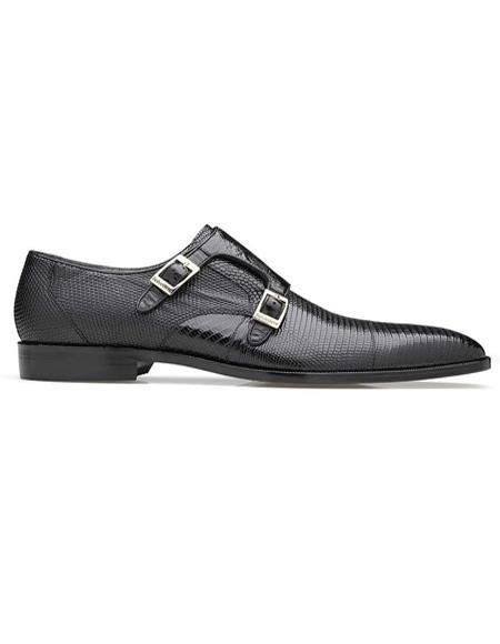 Mens Belvedere Pablo Black Shoes