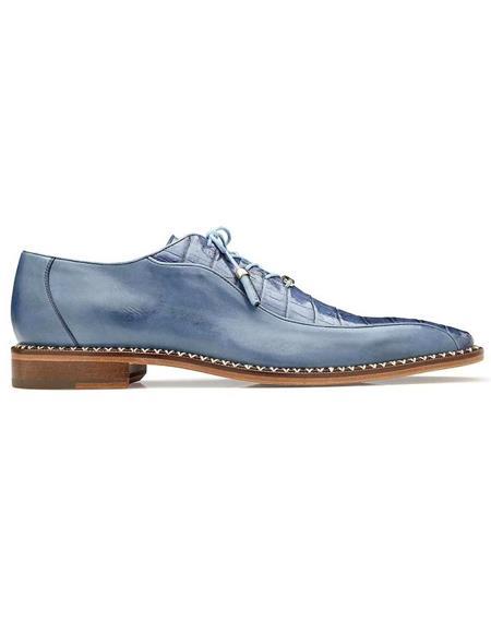 Mens Belvedere Blue Jean Shoes
