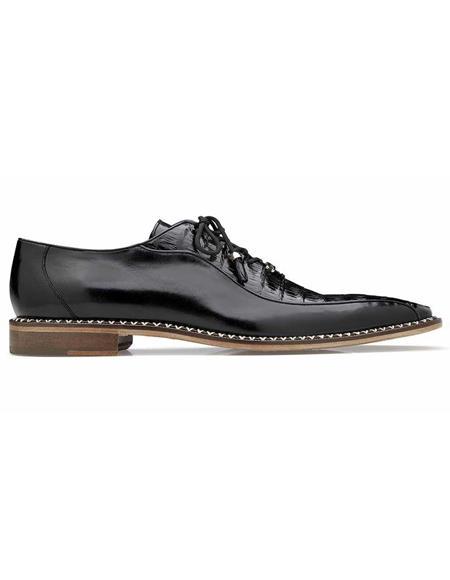 Mens Belvedere Black Shoes