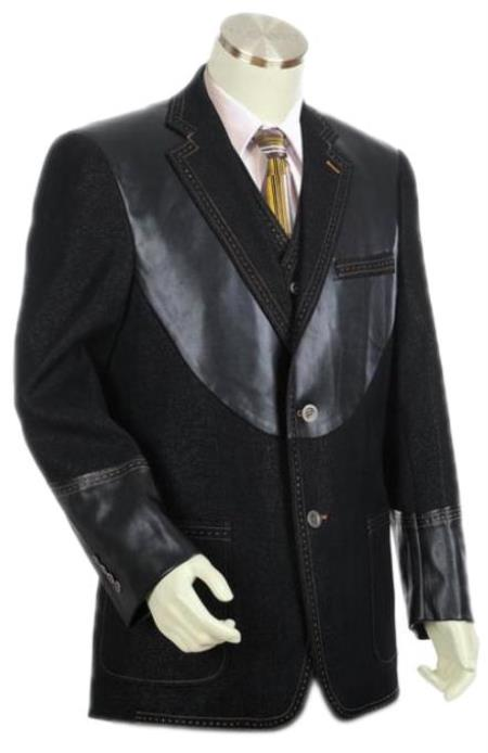Mens Denim blazer - Denim Sport Coat Jacket (No Pants)
