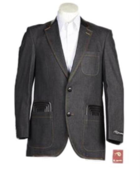 Mens Denim blazer - Denim Sport Coat Jacket (No Pants)