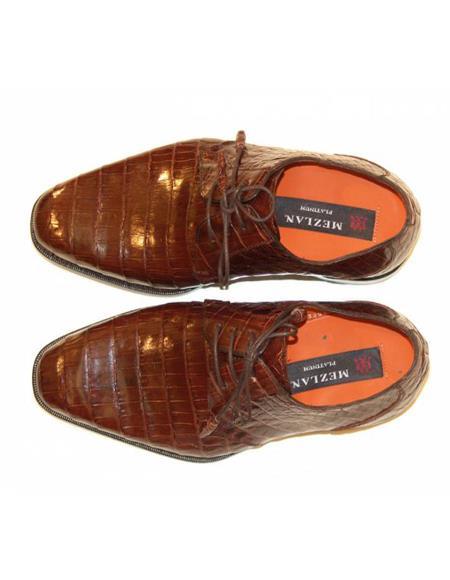Mens Mezlan Full Baby Alligator Plain Toe Sport Shoes