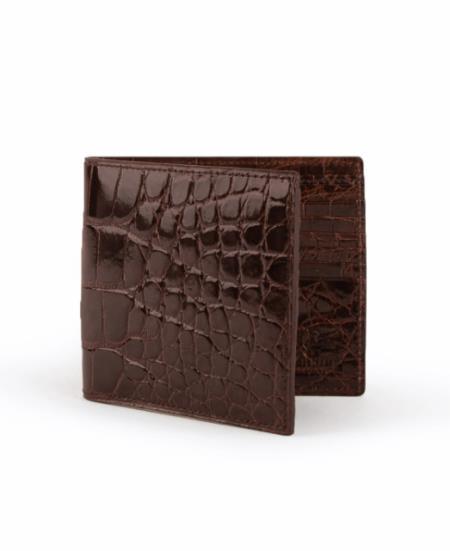 Mens Full Alligator Hipster Chocolate