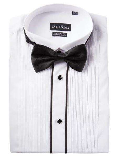 White Tuxedo Shirt - Available in Big and Tall Sizes
