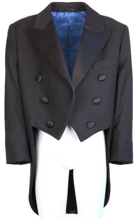 Kids Black Tailcoat Tuxedo Jacket