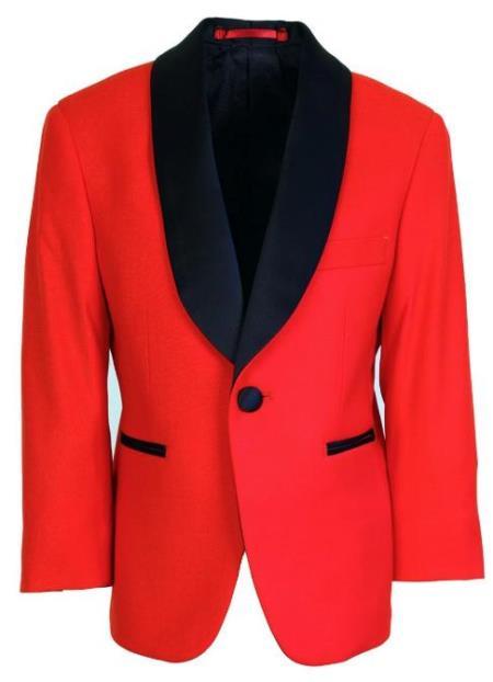 Kids Red Tuxedo Jacket