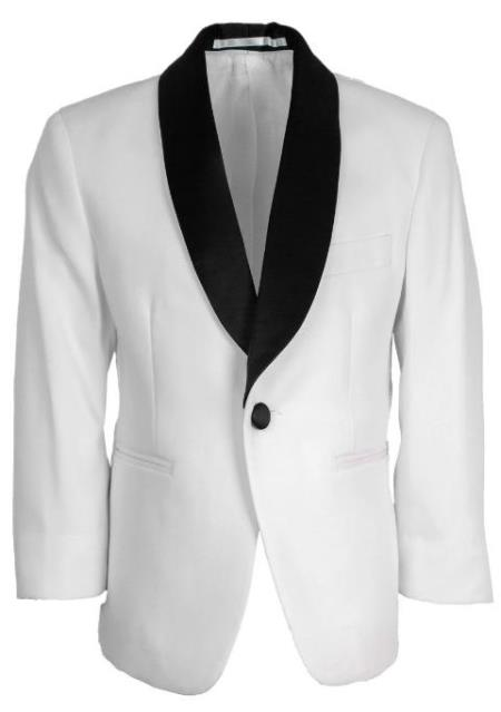 Kids White Tuxedo Jacket